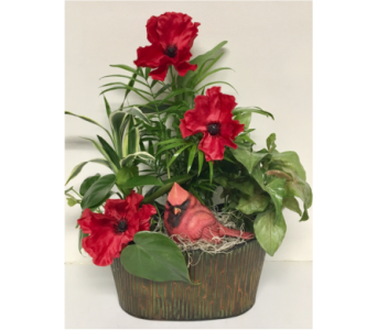 Patina Oval Metal Planter - 10-1/2 x 7-1/2 inch in Wyoming MI, Wyoming Stuyvesant Floral