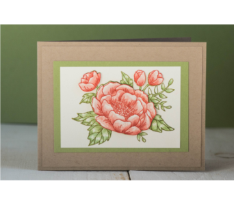 Watercolor Flower Notecard in Granite Bay & Roseville CA, Enchanted Florist