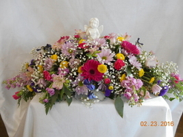 Infant/Child Size Casket Spray in Middletown OH, Flowers by Nancy