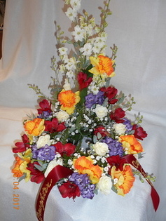 Mixed Urn Spray in Middletown OH, Flowers by Nancy