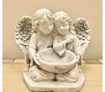 Angels with Bowl in Brownsburg IN, Queen Anne's Lace Flowers & Gifts