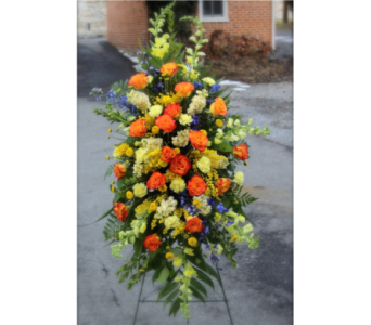 Bright & Beautiful Easel Tribute in Winchester VA, Flowers By Snellings
