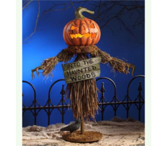 BETHANY LOWE HALLOWEEN SCARECROW  in Bellevue WA, CITY FLOWERS, INC.