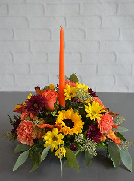 Autumn Brights Centerpiece in Arlington Heights IL, Sylvia's - Amlings Flowers
