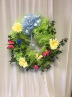 Green Mesh Wreath in Elyria OH, Botamer Florist & More