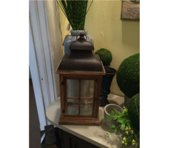 LG Cedar Lantern With Vented Burnished Top in Owensboro KY, Welborn's Floral Company