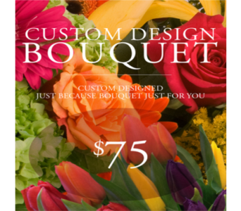 Custom Design Just Because Bouquet $75 in Indianapolis IN, George Thomas Florist