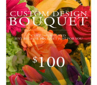 Custom Design Just Because Bouquet $100 in Indianapolis IN, George Thomas Florist