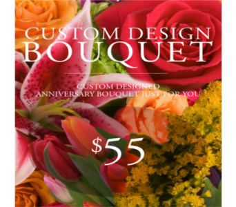 Custom Design Anniversary Bouquet $55 in Indianapolis IN, George Thomas Florist
