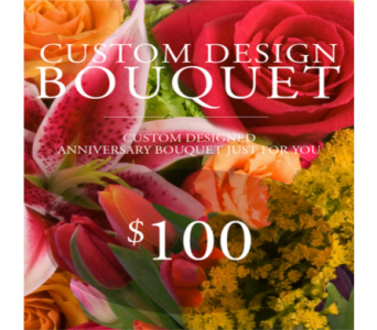 Custom Design Anniversary Bouquet $100 in Indianapolis IN, George Thomas Florist