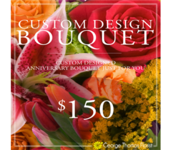 Custom Design Anniversary Bouquet $150 in Indianapolis IN, George Thomas Florist