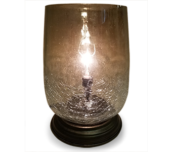 Memory Lamp - Bordeaux Mercury Smoke Glass in Fort Worth TX, TCU Florist