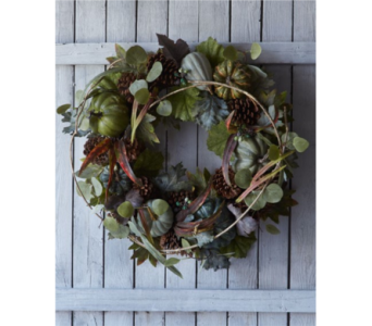 PARK HILL 24 inch PUMPKIN WREATH  in Bellevue WA, CITY FLOWERS, INC.