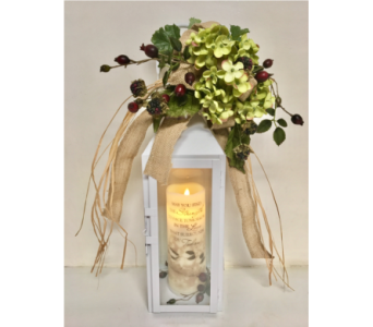 Fields of Summer Lantern w/Memorial Candle in Wyoming MI, Wyoming Stuyvesant Floral