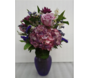 Passionate in Purple in Gaithersburg MD, Flowers World Wide Floral Designs Magellans