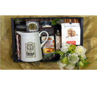 The Toasty Bee Hot Chocolate Crate in Reno NV, Bumblebee Blooms Flower Boutique