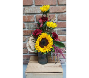 Superstitious Sunflower Workshop  in Casper WY, Keefe's Flowers