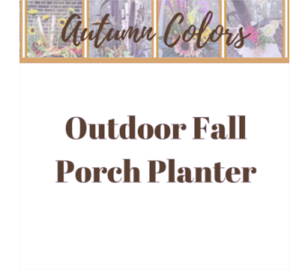 Outdoor Fall Porch Planter in Eau Claire WI, Brent Douglas