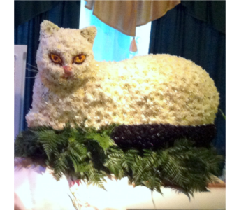 Cat Casket Spray in Staten Island NY, Kitty's and Family Florist Inc.