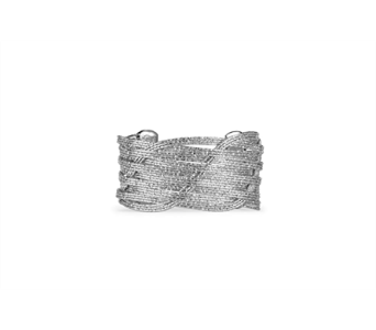 Silver Etched Woven Wire Cuff Bracelet in Indianapolis IN, Steve's Flowers and Gifts