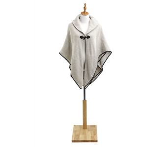 Beige Poncho with Toggle Polyester in Indianapolis IN, Steve's Flowers and Gifts