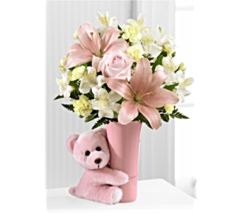 The FTD� Baby Girl Big Hug Bouquet in San Antonio TX, Dusty's & Amie's Flowers