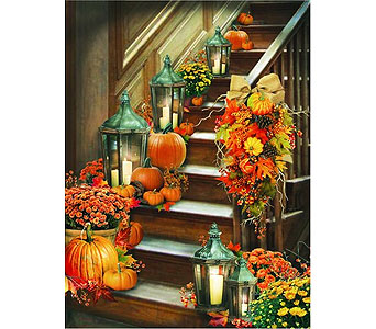 Lighted Harvest Stairway Canvas in Tampa FL, Buds, Blooms & Beyond