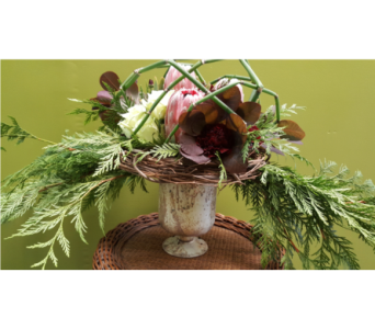Modern fall- urn centerpiece in Swift Current SK, Smart Flowers