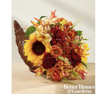 The FTD� Fall Harvest� Cornucopia by Better Homes  in Chelsea MI, Chelsea Village Flowers