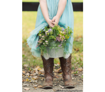 Flower Girl Pail in Perry Hall MD, Perry Hall Florist Inc.