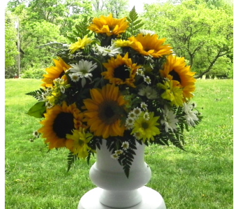 Sunflower Altar Vase in Perry Hall MD, Perry Hall Florist Inc.