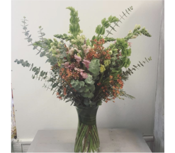 High Style Vase Arrangement in Morehead City NC, Sandy's Flower Shoppe