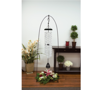 Large Windchime with Floral Arrangement in Spring Hill FL, Sherwood Florist Plus Nursery