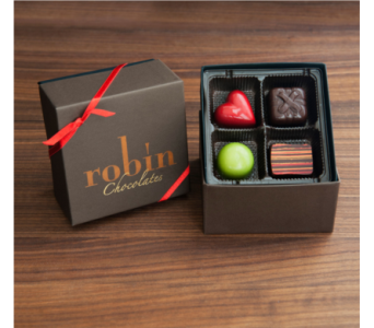 Robin Chocolates 4-piece Collection in Boulder CO, Boulder Blooms
