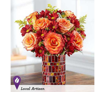 Autumn Waves in Fredericksburg VA, Finishing Touch Florist