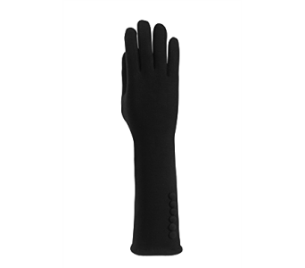 Black Cape Texting Glove w/Buttons Cotton in Indianapolis IN, Steve's Flowers and Gifts