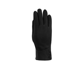 Black Microsuede Cuffed Glove Polyester in Indianapolis IN, Steve's Flowers and Gifts