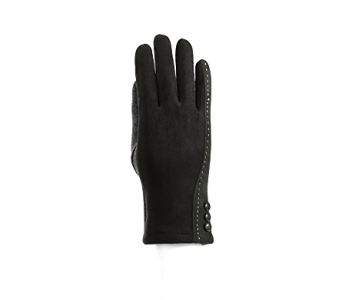 Grey Microsuede Glove Polyester in Indianapolis IN, Steve's Flowers and Gifts