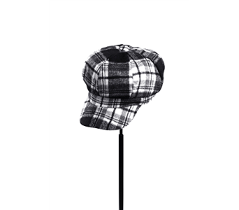Black Tartan Plaid Newsboy Cap in Indianapolis IN, Steve's Flowers and Gifts