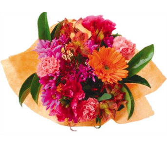 Bright Fall Wrapped Bouquet in Hudson NH, Anne's Florals & Gifts