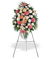 Soft Breeze Funeral Spray-FREE DELIVERY! in Cohasset MA, ExoticFlowers.biz