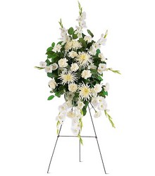 Purity Funeral Spray - FREE DELIVERY in Cohasset MA, ExoticFlowers.biz