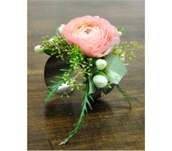Ranunculus Cuff Corsage in Neenah WI, Sterling Gardens