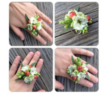Larkspur Ring Corsage in Neenah WI, Sterling Gardens
