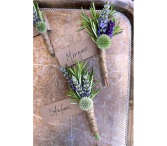 Herb Mix Boutonniere in Neenah WI, Sterling Gardens