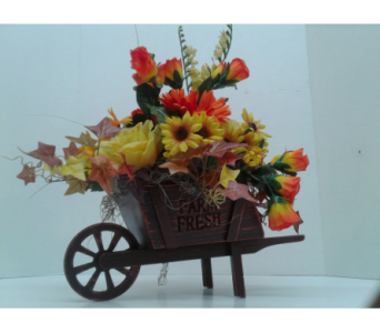 Silk Wheelbarrow in Cleveland OH, Orban's Fruit & Flowers