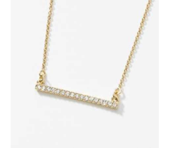 Pave Bar Gold Necklace in Coplay PA, The Garden of Eden
