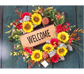 WELCOME WREATH in Claremont NH, Colonial Florist