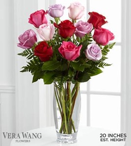 The Captivating Color� Rose Bouquet by Vera Wang in Sapulpa OK, Neal & Jean's Flowers & Gifts, Inc.