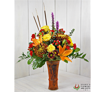 Ablaze With Color in Pendleton IN, The Flower Cart